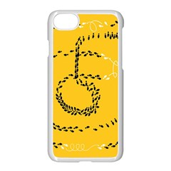 Yellow Soles Of The Feet Apple Iphone 7 Seamless Case (white)