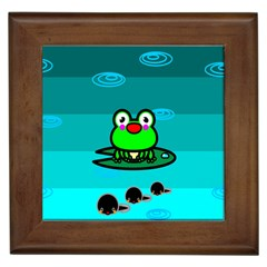 Frog Tadpole Green Framed Tiles