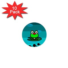 Frog Tadpole Green 1  Mini Buttons (10 pack)