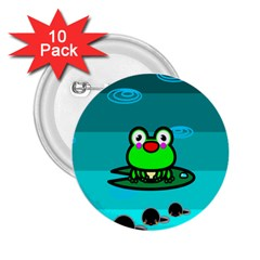 Frog Tadpole Green 2.25  Buttons (10 pack)