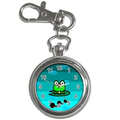 Frog Tadpole Green Key Chain Watches