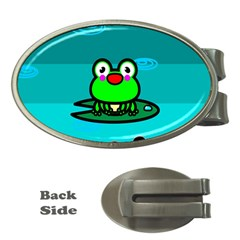 Frog Tadpole Green Money Clips (Oval)