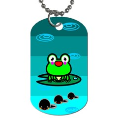 Frog Tadpole Green Dog Tag (One Side)