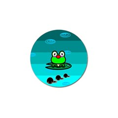 Frog Tadpole Green Golf Ball Marker (4 pack)