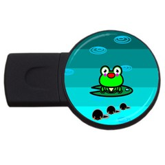 Frog Tadpole Green USB Flash Drive Round (2 GB)