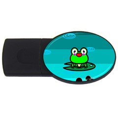 Frog Tadpole Green USB Flash Drive Oval (1 GB)
