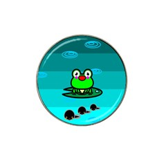 Frog Tadpole Green Hat Clip Ball Marker (10 pack)