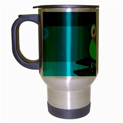 Frog Tadpole Green Travel Mug (Silver Gray)