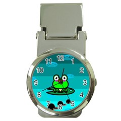 Frog Tadpole Green Money Clip Watches