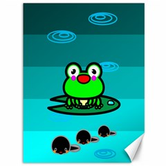 Frog Tadpole Green Canvas 36  x 48