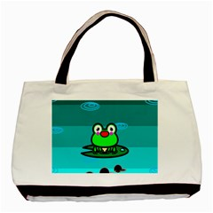 Frog Tadpole Green Basic Tote Bag (Two Sides)