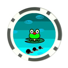 Frog Tadpole Green Poker Chip Card Guards