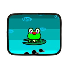 Frog Tadpole Green Netbook Case (Small)