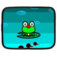 Frog Tadpole Green Netbook Case (Large)