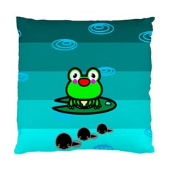 Frog Tadpole Green Standard Cushion Case (One Side)