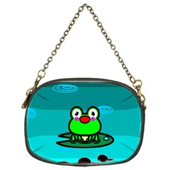 Frog Tadpole Green Chain Purses (Two Sides)