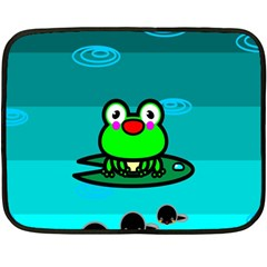 Frog Tadpole Green Double Sided Fleece Blanket (Mini)