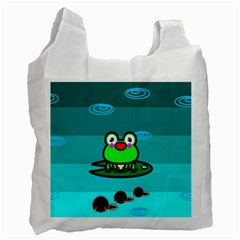 Frog Tadpole Green Recycle Bag (Two Side)