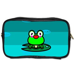 Frog Tadpole Green Toiletries Bags