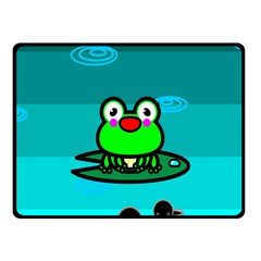 Frog Tadpole Green Fleece Blanket (Small)