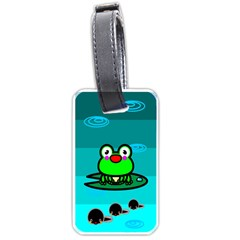 Frog Tadpole Green Luggage Tags (Two Sides)