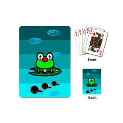 Frog Tadpole Green Playing Cards (Mini)