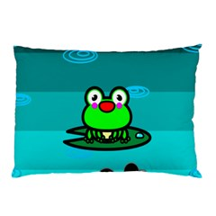 Frog Tadpole Green Pillow Case (Two Sides)