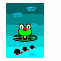 Frog Tadpole Green Small Garden Flag (Two Sides)