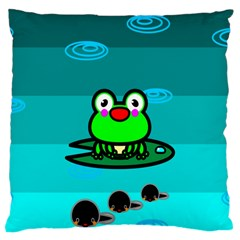 Frog Tadpole Green Large Cushion Case (Two Sides)