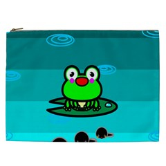 Frog Tadpole Green Cosmetic Bag (XXL)