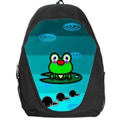 Frog Tadpole Green Backpack Bag