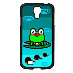 Frog Tadpole Green Samsung Galaxy S4 I9500/ I9505 Case (Black)