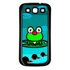 Frog Tadpole Green Samsung Galaxy S3 Back Case (Black)