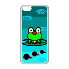 Frog Tadpole Green Apple iPhone 5C Seamless Case (White)