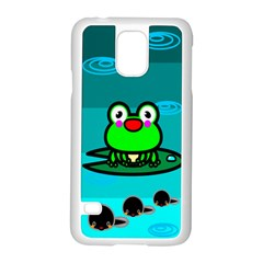 Frog Tadpole Green Samsung Galaxy S5 Case (White)