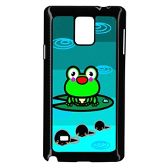 Frog Tadpole Green Samsung Galaxy Note 4 Case (Black)