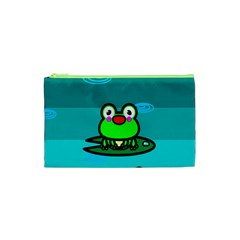 Frog Tadpole Green Cosmetic Bag (XS)