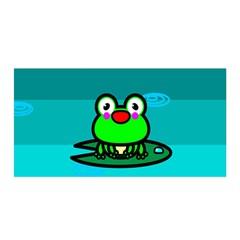 Frog Tadpole Green Satin Wrap