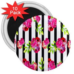 Flower Rose 3  Magnets (10 pack)