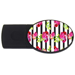 Flower Rose USB Flash Drive Oval (4 GB)