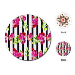 Flower Rose Playing Cards (Round)
