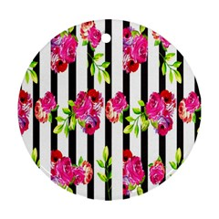 Flower Rose Round Ornament (Two Sides)