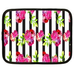 Flower Rose Netbook Case (Large)
