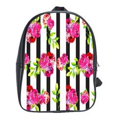 Flower Rose School Bags(Large)