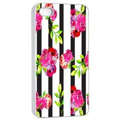 Flower Rose Apple iPhone 4/4s Seamless Case (White)