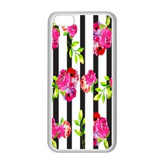 Flower Rose Apple iPhone 5C Seamless Case (White)