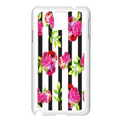 Flower Rose Samsung Galaxy Note 3 N9005 Case (White)