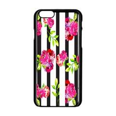 Flower Rose Apple iPhone 6/6S Black Enamel Case