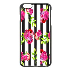 Flower Rose Apple iPhone 6 Plus/6S Plus Black Enamel Case