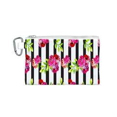 Flower Rose Canvas Cosmetic Bag (S)